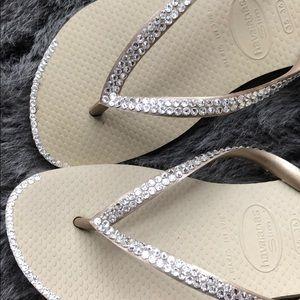 Swarovski Havaianas crystal flip flops